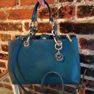 Handbags - Michael Kors Peacock Medium Cynthia Handbag Bag